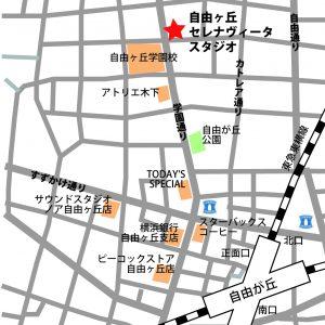 自由が丘 ダンススタジオ map 地図 アクセス